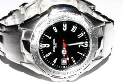 Watch. Macro of wristwatch Royalty Free Stock Photo