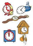 Watch. Set of various interesting hours Stock Image