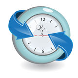 Watch. Illustration, watch with blue arrow around on white background Royalty Free Stock Image