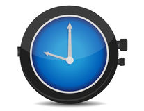 Watch. Classic blue and black watch isolated over a white background Royalty Free Stock Photos