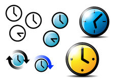 The watch. The some icons of simply  watches Royalty Free Stock Photo