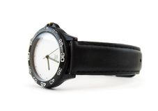 Watch. Black watch on white background royalty free stock images