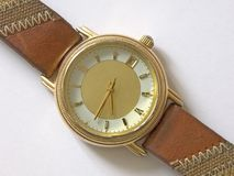 Watch. Old wrist watch in exclusive version Stock Images