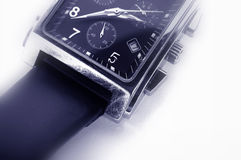 Watch. Macro of watch royalty free stock image