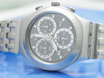 Watch. A single watch in blue background royalty free stock images