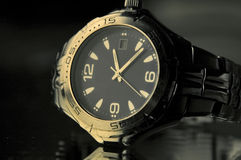 Watch. Luxury watch in selected light Stock Photos