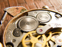 Watch. Internal mechanical clockworks old watch Stock Photography
