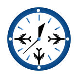 Watch and  airplane Royalty Free Stock Image