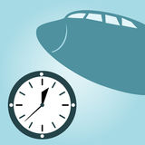 Watch and  airplane Stock Photo