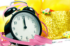 Free Watch At Twelve, Balloons, Party Horns And Confetti For The New Royalty Free Stock Photo - 48223725