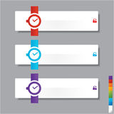 Watch banners template or website layout. Vector. Illustration.  Stock Photos