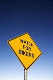 'Watch for Bikers' Road Warning Sign Stock Photography