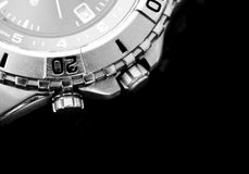 Watch on Black Background Royalty Free Stock Photography