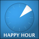 Watch blue arabic happy hour 3 Stock Photography