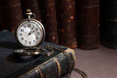 Watch On Book Royalty Free Stock Photos