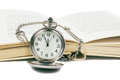 Watch and book Royalty Free Stock Photo