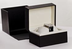 Watch in a box Royalty Free Stock Images