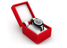 Watch in box Stock Photo
