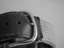 Watch bracelet macro. Watch bracelet macro, with the buckle in the foreground Royalty Free Stock Photo