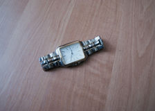 Watch with bracelet. Wrist watch with bracelet on the table Royalty Free Stock Photos