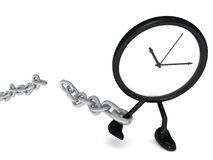 Watch with a broken chain stock photo