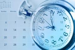 Watch on calendar Royalty Free Stock Photo