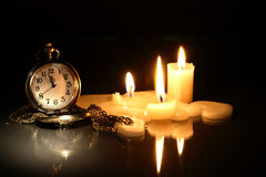 Watch And Candles Stock Image