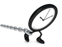 Watch with chain Royalty Free Stock Photos