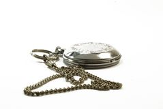 The watch with chain. The old watch with chain royalty free stock image