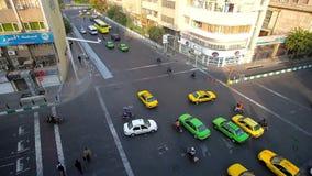 Watch chaotic traffic in Tehran, Iran stock footage