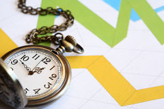 Watch On Chart Royalty Free Stock Images
