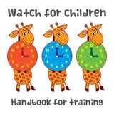 Watch for children with a giraffe. Handbook for training. Watch for children with a giraffe. Handbook for training Royalty Free Stock Photo