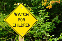 Watch For Children Sign Royalty Free Stock Photos
