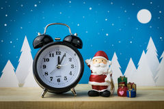 Watch and Children toys for christmas decoration. Royalty Free Stock Image