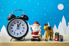 Watch and Children toys for christmas decoration. Royalty Free Stock Images