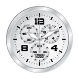 Watch with chronograph. Clock chronograph in metallic grey Royalty Free Stock Photos