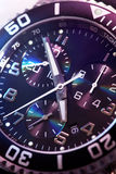 Watch chronograph closeup Stock Photography