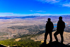 Watch the city from the summit. Discovery and adventure Stock Photos