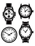 Watch and clock Royalty Free Stock Photography