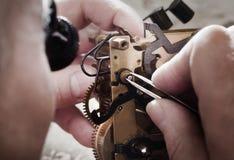 Watch clock repair Stock Images
