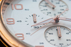Watch close up. A close up of an isolated watch Royalty Free Stock Photo