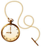 Watch. Close up luxury design of pocket watch royalty free illustration