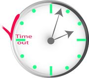 Conceptual image of time management stock illustration