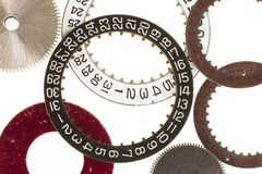 Date Rings and Cogs Royalty Free Stock Photography
