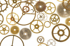 Various Watch Cogs. Watch cogs on white background Royalty Free Stock Image