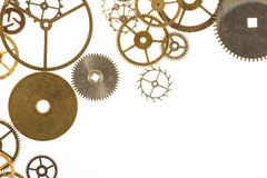 Watch Cogs on White Royalty Free Stock Photos