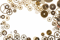 Cogs Frame. Watch cogs on white forming a frame with copy space in center Royalty Free Stock Image