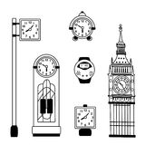 Watch collection. On a white background Stock Illustration