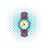 Watch comics icon. Hipster symbol on a white background Royalty Free Stock Photo