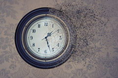 Watch destroyed by time in the sand. Concept time is running out. Watch destroyed by time in the sand. the concept time is running out Stock Images